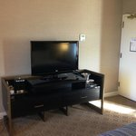 In-room coffee, big TV with HD channels