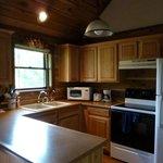 kitchen area- well stocked