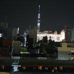 Vue sur la Tokyo Tower de la chambre