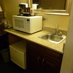 nice little kitchenette area , check the fridge first to make sure its on