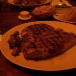 one awsome steak cooked by carlos to perfection