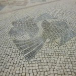 Mosaic pavement with fish motifs is rather attractive.