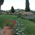 The path into Relais San Sanino