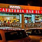 Cafeteria Bar El Sol Terrace at night
