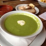 Pea soup.  Very tasty