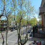 Vista da sacada para a Avenida General Flores