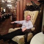 Some fun in the big chair