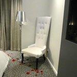 rose petals on carpet?  swoon