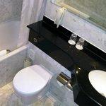 Bathroom - clean but no individual toiletries.