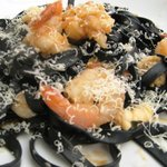 Black Ink Fettuccine with seafood to die for