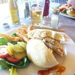 Fantastic halibut burger