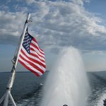 The Rooster Tail and Old Glory...