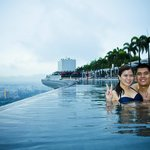 One of our bucket list, swim at MBS Infinity Pool Singapore