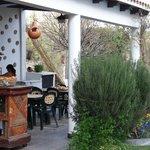 zona de patio, pileta , asador