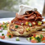 Our famous Corn Fritters with Bacon
