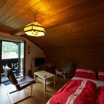 Wide-angled view of our top-floor room Dachstein