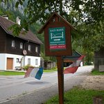 Sign to look for when driving from Halstatt