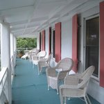 Upstairs wraparound balcony