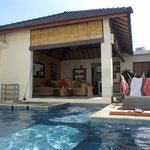 Villa 8- 3bedroom with L-shape swimming pool.