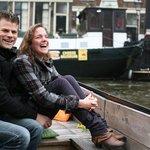 Scenic boat ride with a fun couple