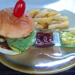 Veg Burger with Fries