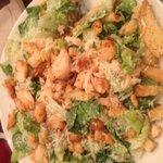Salmon Cesar salad.