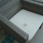 Outdoor furniture dirty