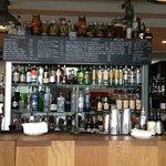 The bar/ restaurant area