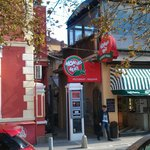 Main entry of the Tsar Chichman Str. restaurant-pizzeria Mamma Mia at Sofia