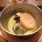 エスカルゴのグリーンスープ