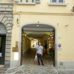 Front entrance to Hotel on Via Faenza