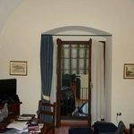 Living area showing patio window/ door