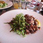 Salade de petits poulpes