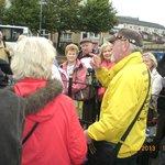 John McNulty (yellow jacket) in full flow