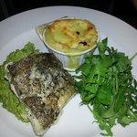 Cod (needed more seasoning), delicious gratin