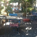 tuin bij Iz Café