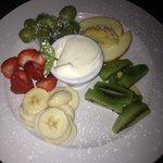 fruit plate. :)
