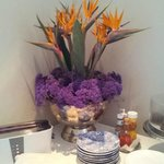 We loved the proudly South African flower arrangement