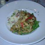 Veal masala with garlic mashers (ie lumpy mash)