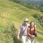 Anton & Nanette at Longji Rice Terraces area.