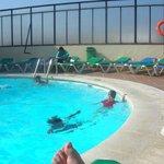 piscine chauffée en plein air au dernier étage