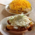 cheese and slaw coneys