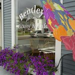Welcoming entry at Bentley's Bakery & Cafe