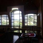 Inside the top floor relaxation area - nice big windows