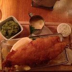 fish and chips! always a winner- this just tops the list with minted mushy peas and homemade tar