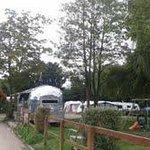 Happy Camper airstream and campsite