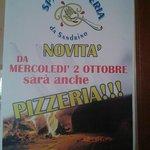 dal 2 ottobre anche pizze e dal lunedì al giovedì pizza piu bibita 7 euro