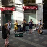 Live music in front of the hotel