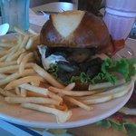 Mushroom, Pepper Jack Cheese Bacon Burger