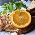 Breakfast - a lobster omelet